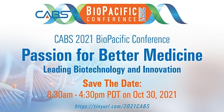 CABS 2021 BIOPACIFIC CONFERENCE tickets