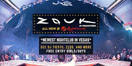 ZOUK Nightclub (NEW @ Resorts World) FREE Entry [Vegas Guest List] #1 Party tickets