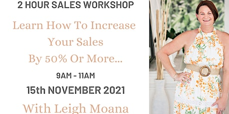 Strategies That Sell - Workshop tickets