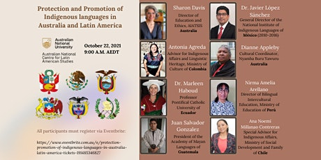 Protection & Promotion of Indigenous Languages in Australia & Latin America tickets
