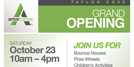 Taylor Cove Model Home Grand Opening Event tickets