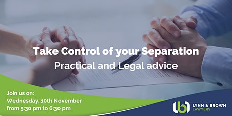 Take Control of your Separation: Practical and Legal advice tickets