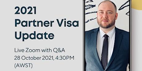 GOV Changes | Partner Visa Application tickets