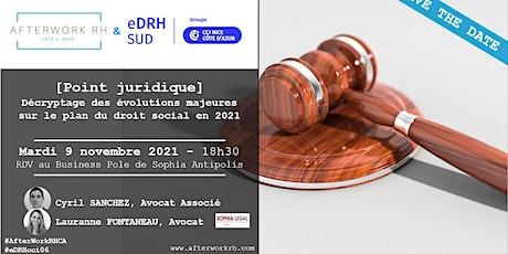 AfterWork RH Côte d'Azur - SAVE THE DATE - 9 novembre - point juridique billets