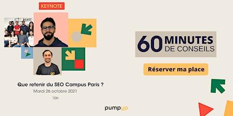 Que retenir du SEO Campus Paris ? tickets