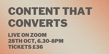 Content That Converts - Social Media Workshop tickets