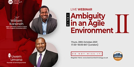 Ambiguity In An Agile Environment II tickets