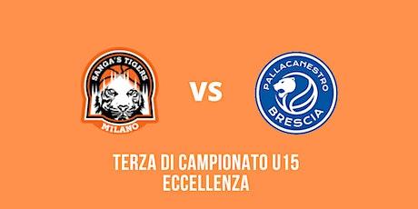 Terza di campionato U15 Eccellenza Tigers - Pallacanestro Brescia biglietti