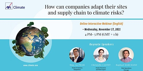 HOW CAN COMPANIES ADAPT THEIR SITES AND SUPPLY CHAIN TO CLIMATE CHANGE? tickets
