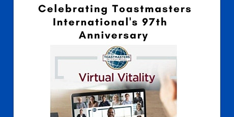 Celebrating Toastmasters 97th Anniversary tickets