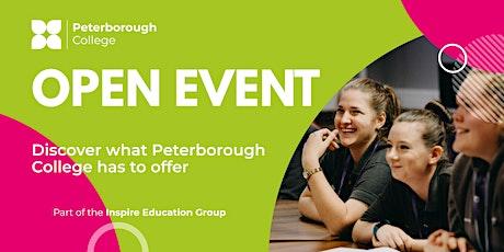 Peterborough College Open Event - Saturday 20th November (11am - 1pm) tickets