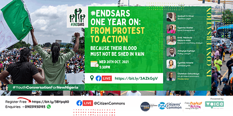 #EndSARS One Year On: From Protest to Action tickets