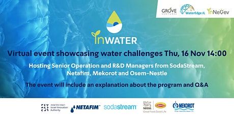 InWater Israel's biggest water challenges event tickets