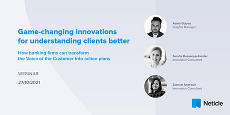 Game-changing innovations for understanding clients better tickets