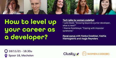 How to level up your career as a developer? feat. women.code(be) tickets