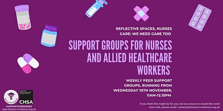 Reflective Spaces, Nurses Care: we need care too - Nurses Support Groups tickets