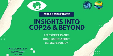 MISRA AND MIAS PRESENT: INSIGHTS INTO COP26 & BEYOND tickets