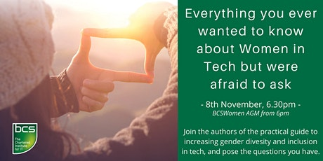 Everything you wanted to know about women in tech but were afraid to ask tickets