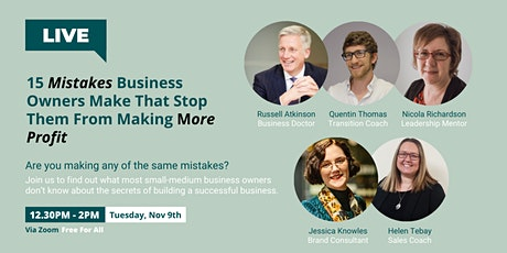 15 Mistakes BusinessOwners Make That Stop Them From Making More Profit tickets