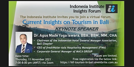 The Indonesia Institute Insights Forum: Current Insights on Tourism in Bali tickets