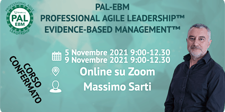 PAL-EBM Evidence Based Management™ - Scrum.org biglietti