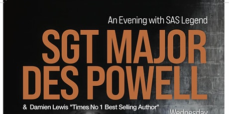 An Evening with SAS Sgt Major Des Powell & Damien Lewis tickets