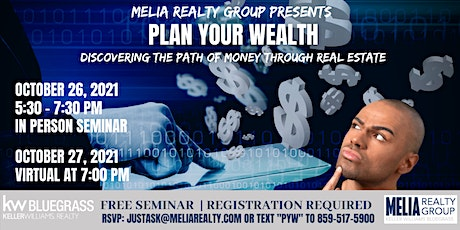 Plan Your Wealth - Discovering the Path of Money Through Real Estate tickets