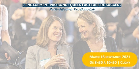 Petit-déjeuner : le pro bono & ses facteurs de succès ! billets