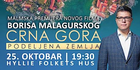 """Malmska premijera filma Borisa Malagurskog """"Crna Gora: Podeljena zemlja"""" tickets"""