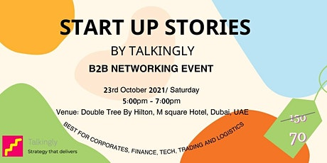 Startup Stories   B2B Networking   By Talkingly tickets