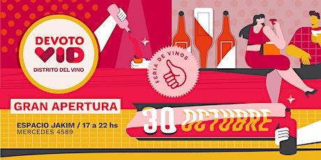 """DevotoVid - Gran Apertura del nuevo """"Distrito del Vino""""  en Buenos Aires entradas"""