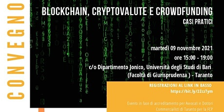 Blockchain, Cryptovalute e Crowdfunding. Casi pratici biglietti