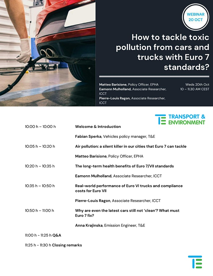 How to tackle toxic pollution from cars and trucks with Euro 7 standards image