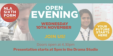 NLA Sixth Form Open Evening tickets