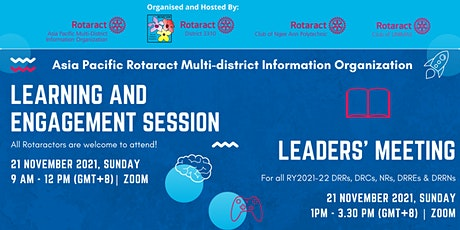 Asia Pacific Rotaract MDIO Learning Engagement Session and Leaders' Meeting tickets