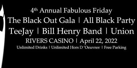 The Black Out | 4th Fabulous Friday All Black Gala tickets