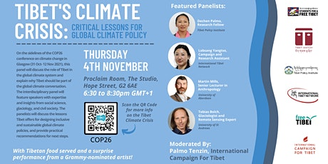 Tibet's Climate Crisis: Critical Lessons for Global Climate Policy tickets