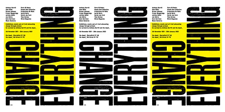 Anthony Burrill & the depot_ present 'Change Everything', PV 4th November tickets