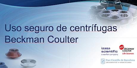 Uso seguro de centrífugas Beckman Coulter entradas
