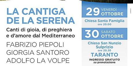 LA CANTIGA DE LA SERENA - 30 Ottobre biglietti