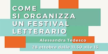 Come si organizza un festival letterario biglietti