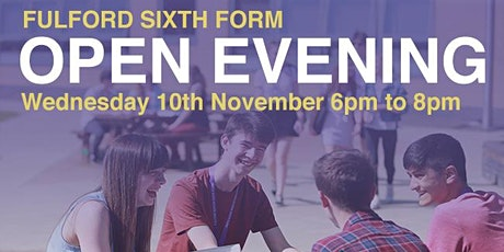 Fulford Sixth Form Open Evening - 7:00pm to 8:00pm tickets