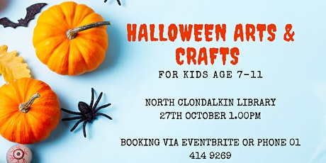 Halloween Arts & Crafts for kids age 7-11 tickets