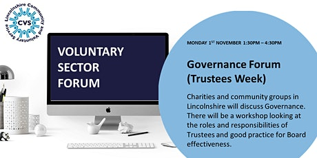 Virtual Voluntary Sector Forum: Governance (Trustees Week) tickets