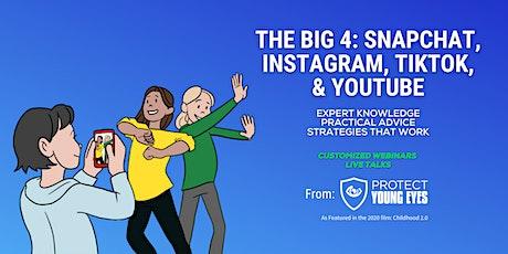 The Big 4: Snapchat, Instagram, TikTok and YouTube tickets