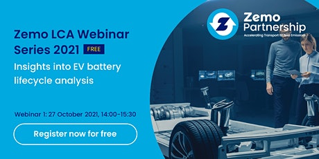Zemo LCA Webinar Series: Insights into EV battery life cycle analysis tickets