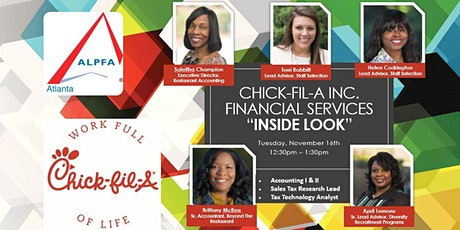 """Chick-fil-A Financial Services """"Inside Look"""" tickets"""