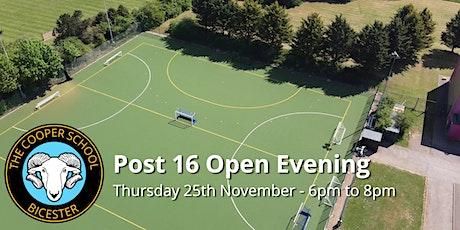 The Cooper School - Post 16 Open Evening - Thursday 25th November 2021 tickets