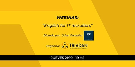 Webinar: English for IT Recruiters tickets