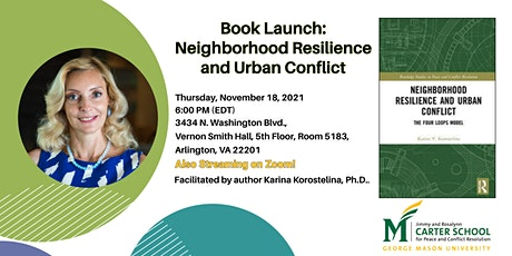 """Virtual Book launch """"Neighborhood Resilience and Urban Conflict"""" tickets"""